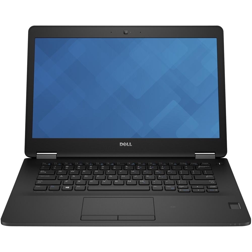 """Front Zoom. Dell - Latitude 14"""" Refurbished Laptop - Intel Core i7 - 8GB Memory - 512GB Solid State Drive - Black."""