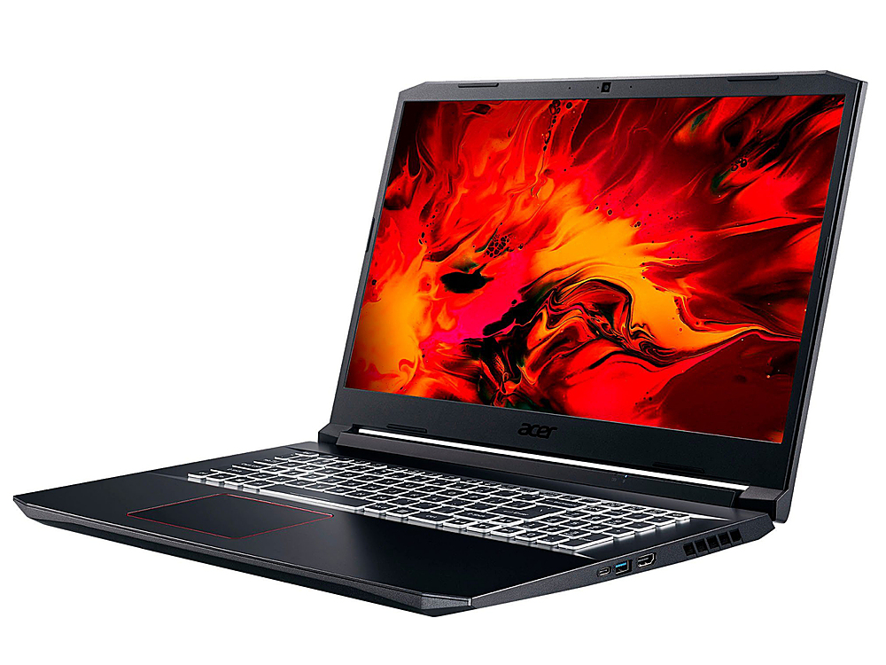 "Angle Zoom. Acer - Nitro 5 17.3"" Refurbished Gaming Laptop - Intel Core i5 10300H - 8GB Memory - 512GB Solid State Drive - Black."