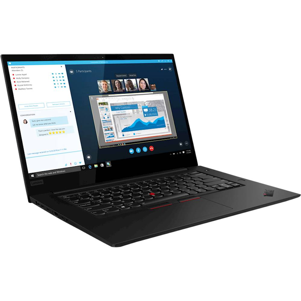 "Angle Zoom. Lenovo - ThinkPad X1 Extreme 15.6"" Laptop - Intel Core i7 - 32GB Memory - NVIDIA GeForce GTX 1650 - 512GB Solid State Drive - Black Paint."