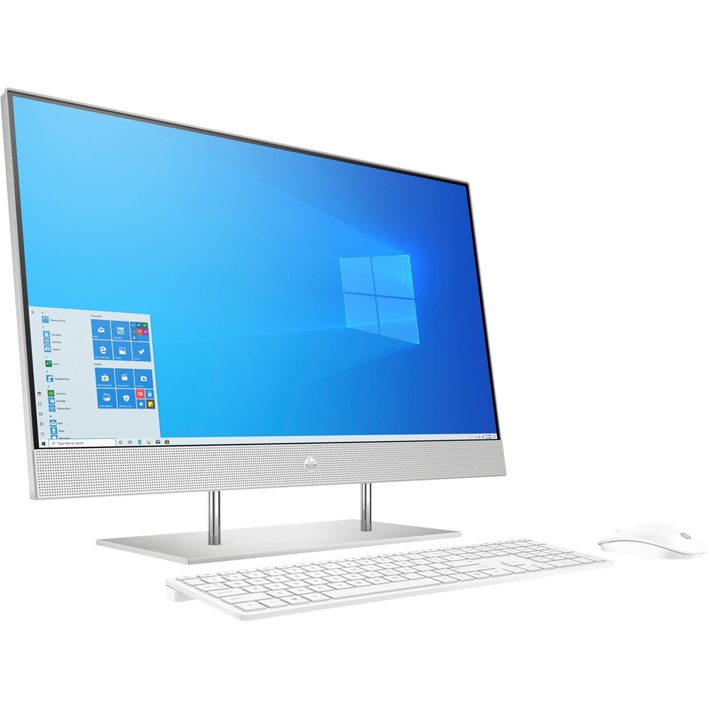 """Left Zoom. 27"""" Touch-Screen All-In-One - Intel Core i7 - 16GB Memory - 512GB SSD - HP Finish In Natural Silver."""