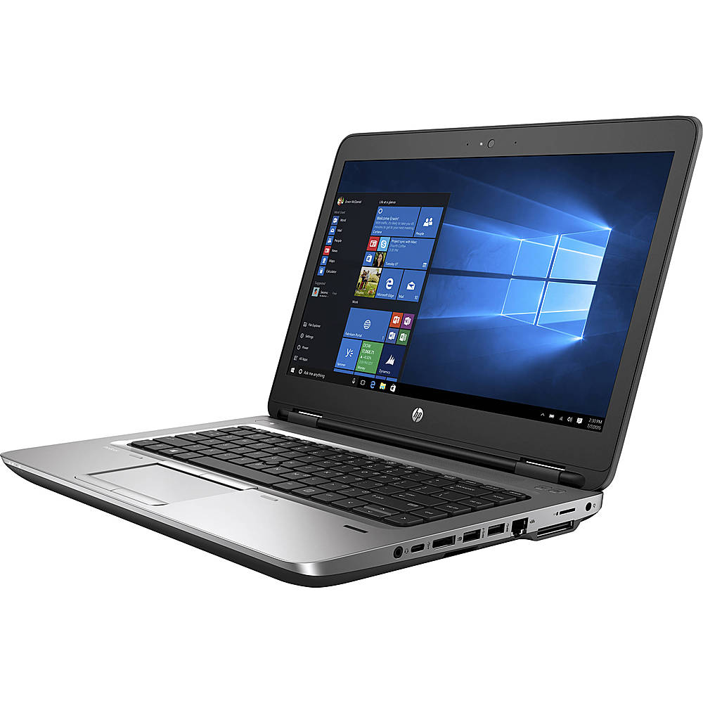 "Left Zoom. HP - ProBook 640 G1 14"" Refurbished Laptop - Intel Core i5 4300M - 8GB Memory - 500GB HDD."
