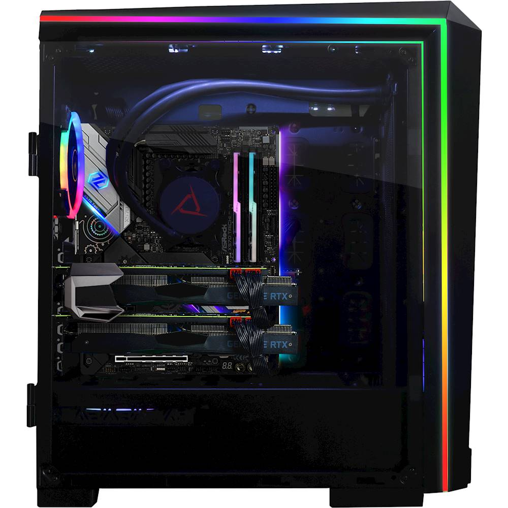 Alt View Zoom 13. CLX - SET Gaming Desktop - AMD Ryzen 9 3900X - 32GB Memory - 2 x NVIDIA GeForce RTX 2080 Ti - 6TB Hard Drive + 1TB SSD - Black/RGB.