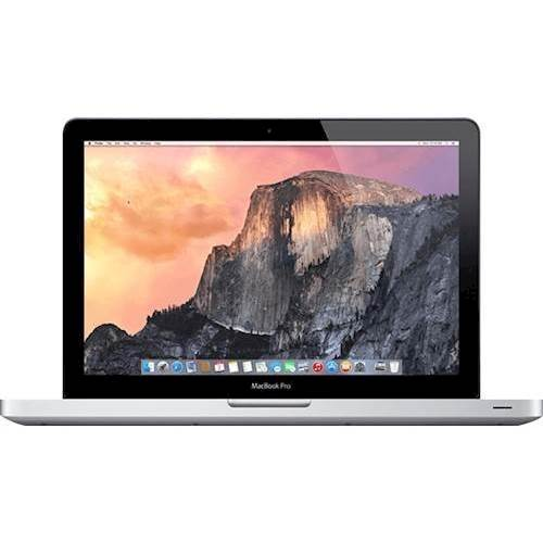 """Front Standard. Apple - MacBook Pro 13.3"""" Pre-owned Laptop - Intel Core i7 - 8GB Memory - 750GB Hard Drive - Silver."""