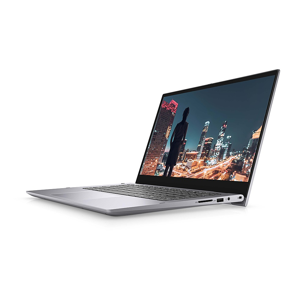 """Left Zoom. Dell - Inspiron 2-in-1 14"""" Touch-Screen Laptop - Intel Core i7 - 12GB Memory - 512GB SSD - Titan Grey."""