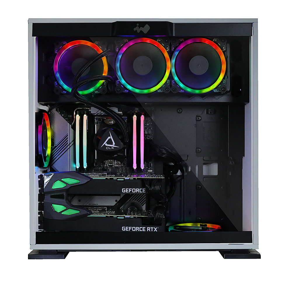 Alt View Zoom 2. CLX - SET Gaming Desktop - AMD Ryzen™ Threadripper™ 3960X - 64GB Memory - Dual (2x) GeForce RTX 2080 Ti - 6TB HDD + 512GB SSD - White/RGB.