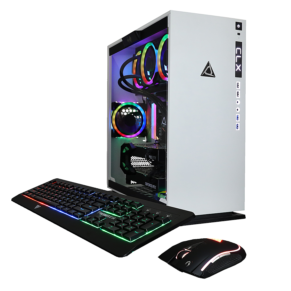 Alt View Zoom 5. CLX - SET Gaming Desktop - AMD Ryzen™ Threadripper™ 3960X - 64GB Memory - Dual (2x) GeForce RTX 2080 Ti - 6TB HDD + 512GB SSD - White/RGB.
