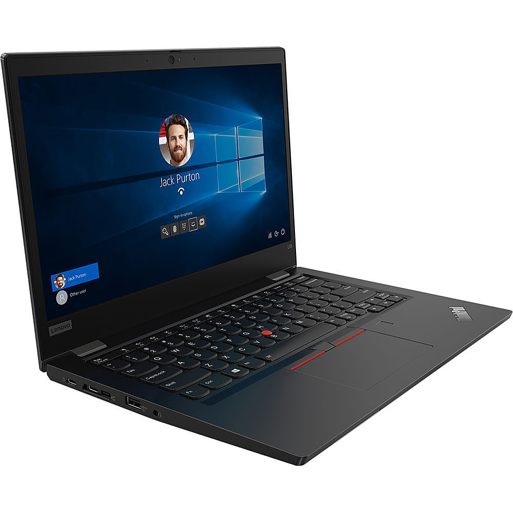 "Angle Zoom. Lenovo - 15.6"" ThinkPad L15 Gen 1 Laptop - 8GB Memory - AMD Ryzen 5 PRO - 256GB Hard Drive."