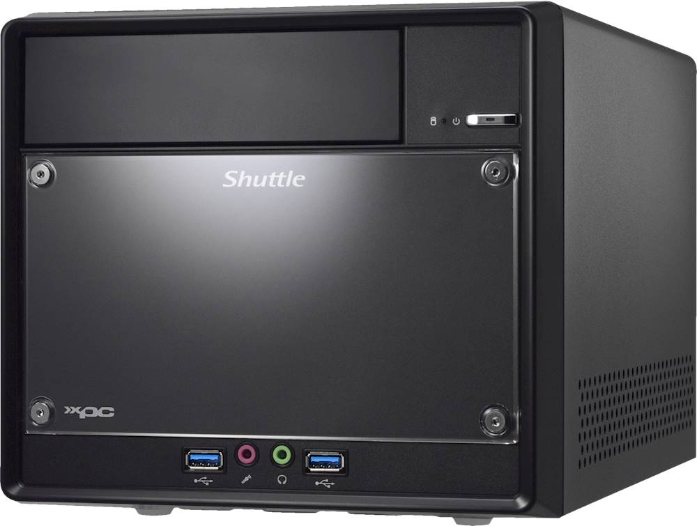 Left Zoom. Shuttle - XPC Cube SH310R4 V2 Barebone Desktop - Black.