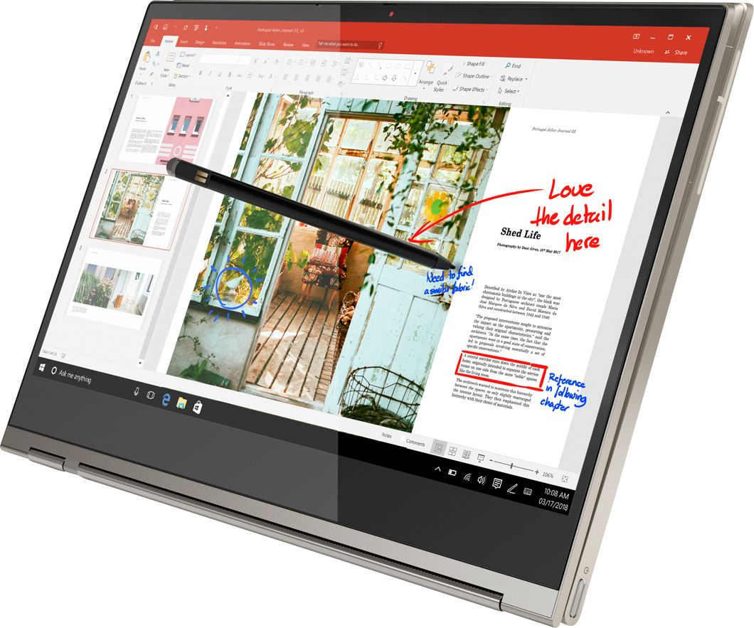 "Alt View Zoom 3. Lenovo - Geek Squad Certified Refurbished Yoga C930 2-in-1 13.9"" 4K Ultra HD Laptop - Intel Core i7 - 16GB Memory - 512GB SSD - Mica."
