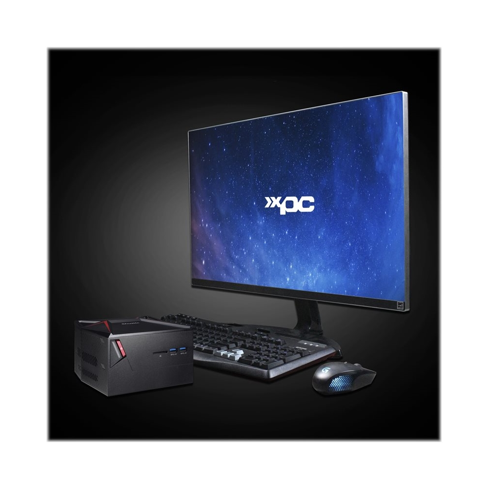 Alt View Zoom 11. Shuttle - X1 Series Gaming Desktop - Intel Core i5-7300HQ - 8GB Memory - NVIDIA GeForce GTX 1060 - 256GB Solid State Drive - Black/Red.