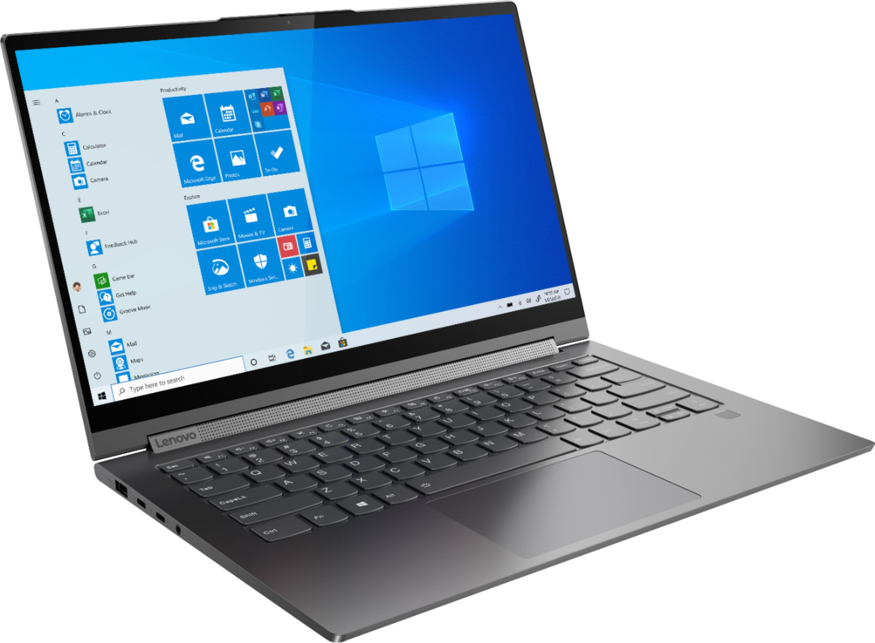 "Angle Zoom. Lenovo - Geek Squad Certified Refurbished Yoga C940 2-in-1 14"" Laptop - Intel Core i7 - 12GB Memory - 512GB Solid State Drive - Iron Gray."
