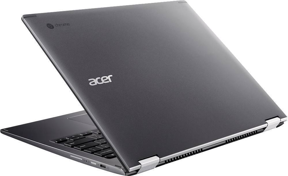 "Alt View Zoom 1. Acer - Spin 13 2-in-1 13.5"" Touch-Screen Chromebook - Intel Core i5 - 8GB Memory - 64GB eMMC Flash Memory - Steel Gray."