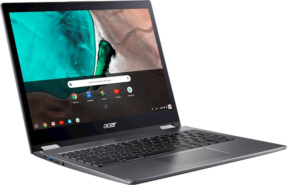 "Angle Zoom. Acer - Spin 13 2-in-1 13.5"" Touch-Screen Chromebook - Intel Core i5 - 8GB Memory - 64GB eMMC Flash Memory - Steel Gray."