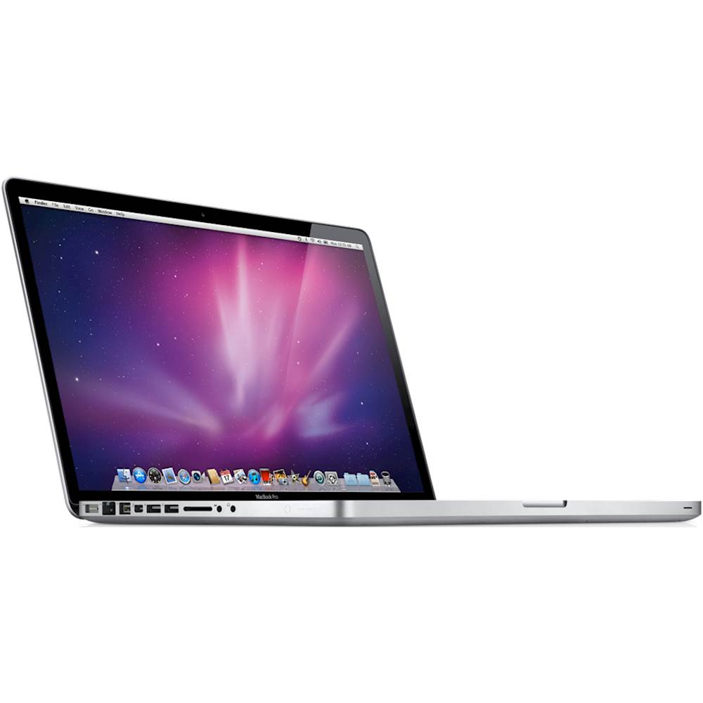 """Angle Zoom. Apple - MacBook Pro 15.4"""" Laptop - Intel Core i7 - 4GB Memory - 128GB Hard Drive - Pre-Owned - Silver."""