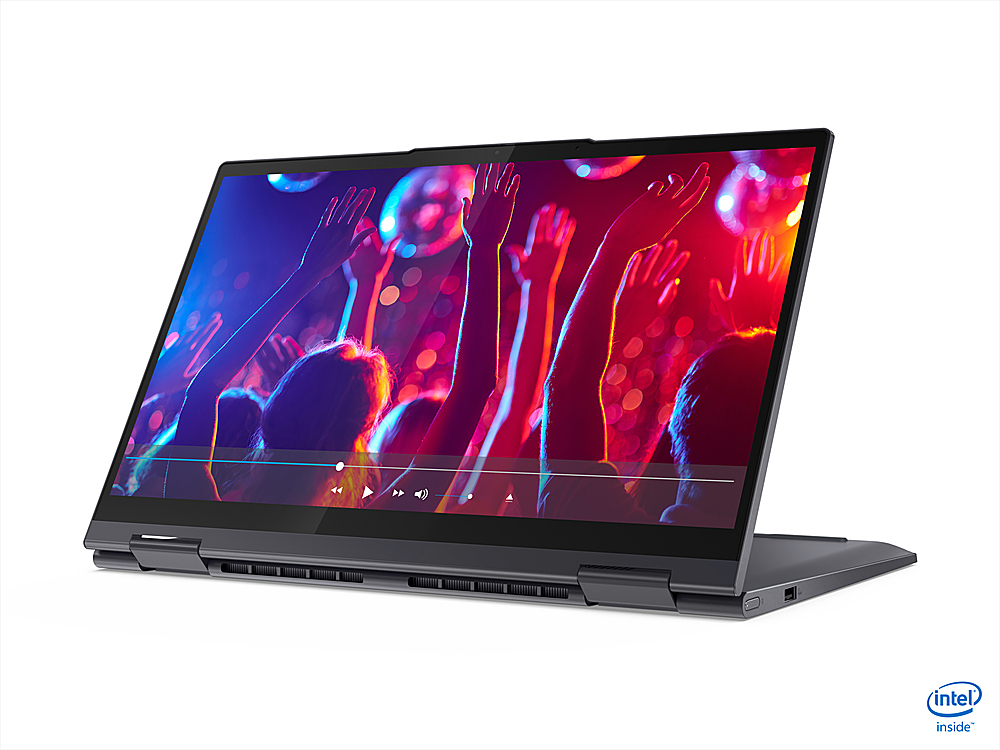 "Alt View Zoom 3. Lenovo - Yoga 7i 14 2-in-1 14"" Touch-Screen Laptop - Intel Core i5 - 12GB Memory - 512GB SSD - Slate Grey."