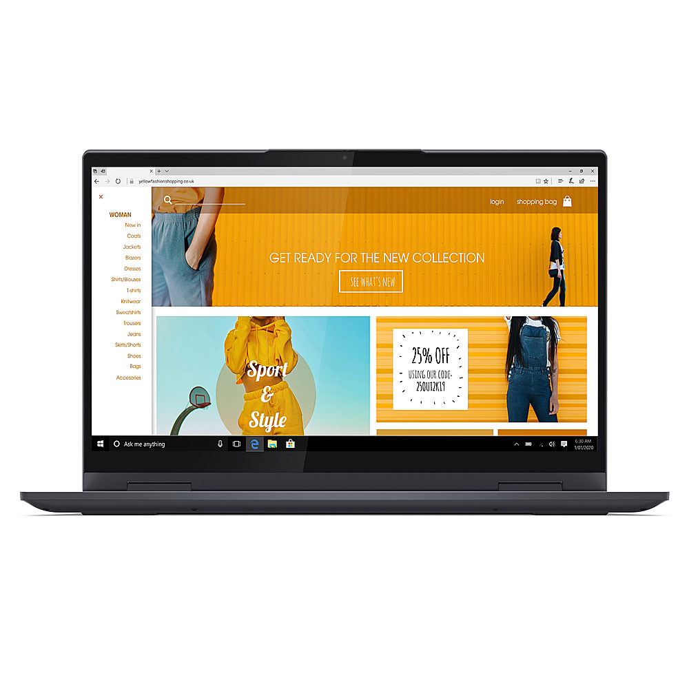 "Alt View Zoom 4. Lenovo - Yoga 7i 14 2-in-1 14"" Touch-Screen Laptop - Intel Core i5 - 12GB Memory - 512GB SSD - Slate Grey."