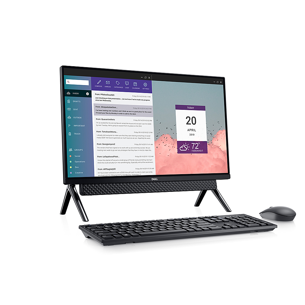 "Alt View Zoom 4. Dell - Inspiron 24"" Touch screen All-In-One - Intel Core i3 - 8GB Memory - 256GB Solid State Drive - Black."