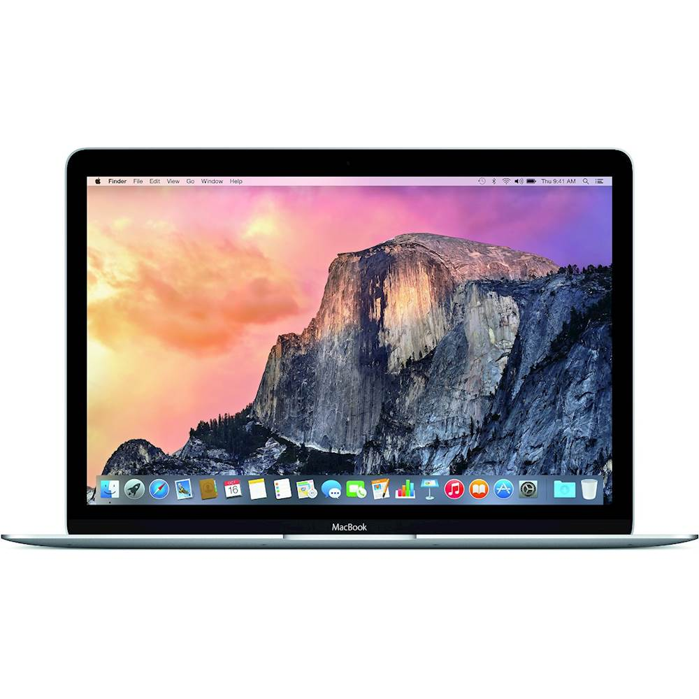 "Front Zoom. Apple - Macbook® 12"" Pre-Owned Laptop - Intel Core M - 8GB Memory - 256GB Solid State Drive - Silver."