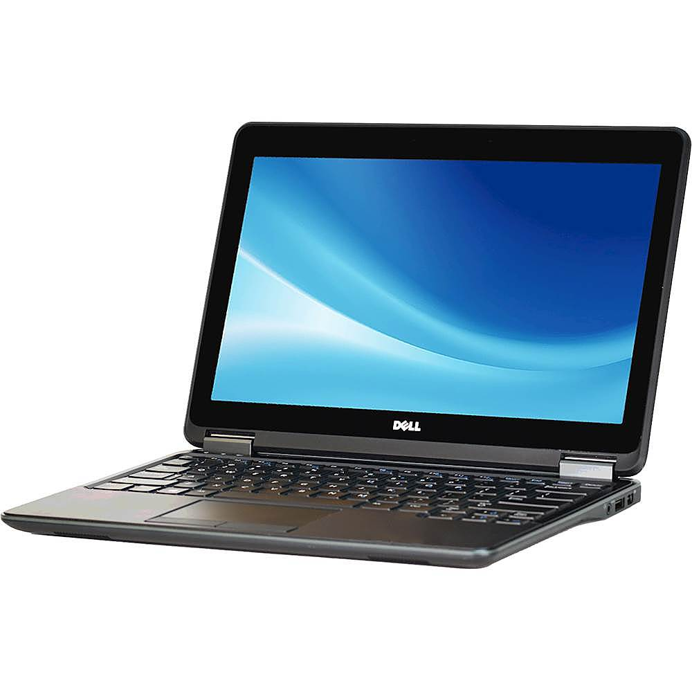 """Left Zoom. Dell - Latitude 12.5"""" Laptop - Intel Core i5 - 8GB Memory - 256GB Solid State Drive - Pre-Owned - Black."""