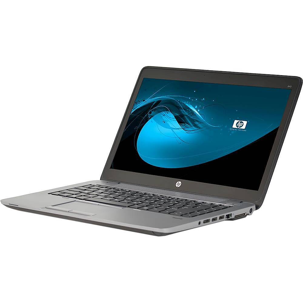 """Left Zoom. HP - EliteBook 14"""" Laptop - Intel Core i5 - 8GB Memory - 500GB Solid State Drive - Pre-Owned - Black."""