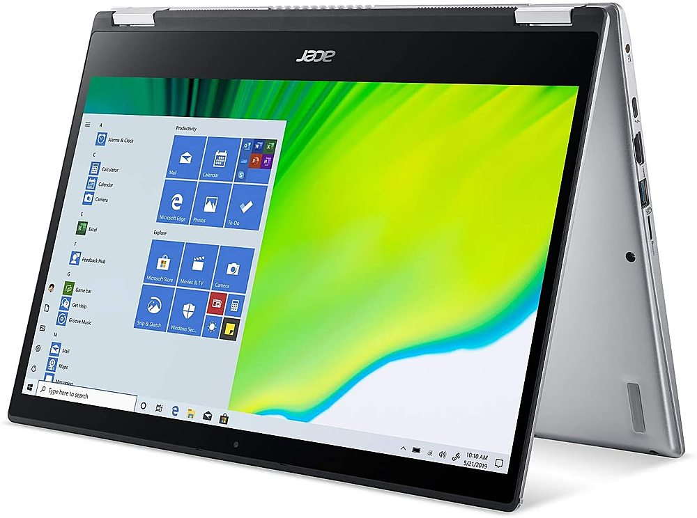 """Left Zoom. Acer - Spin 3 14"""" Refurbished Laptop - Intel Core i5 1035G1 - 8GB Memory - 256GB Solid State Drive - Black."""