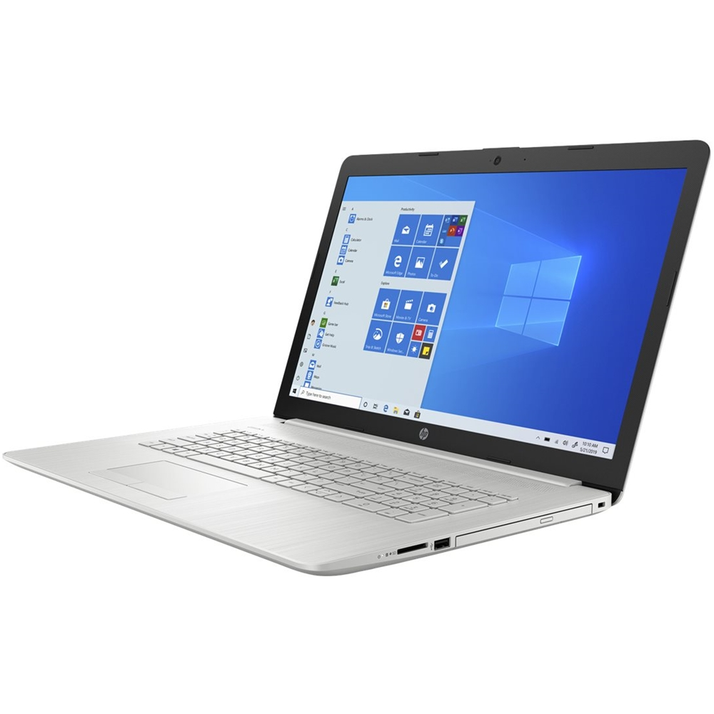 """Alt View Zoom 11. HP - 17.3"""" Touch-Screen Laptop - Intel Core i3 - 8GB Memory - 1TB HDD + 128GB SSD - Ash Silver Keyboard Frame, Natural Silver."""