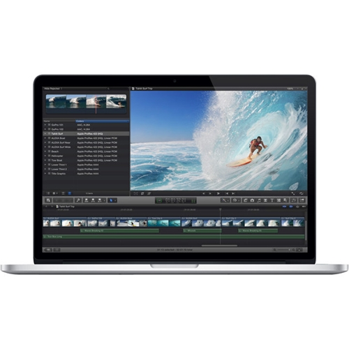 "Front Standard. Apple - MacBook Pro 15.4"" Pre-owned Laptop - Intel Core i7 - 8GB Memory - NVIDIA GeForce GT 650M - 256GB Flash Storage - Silver."