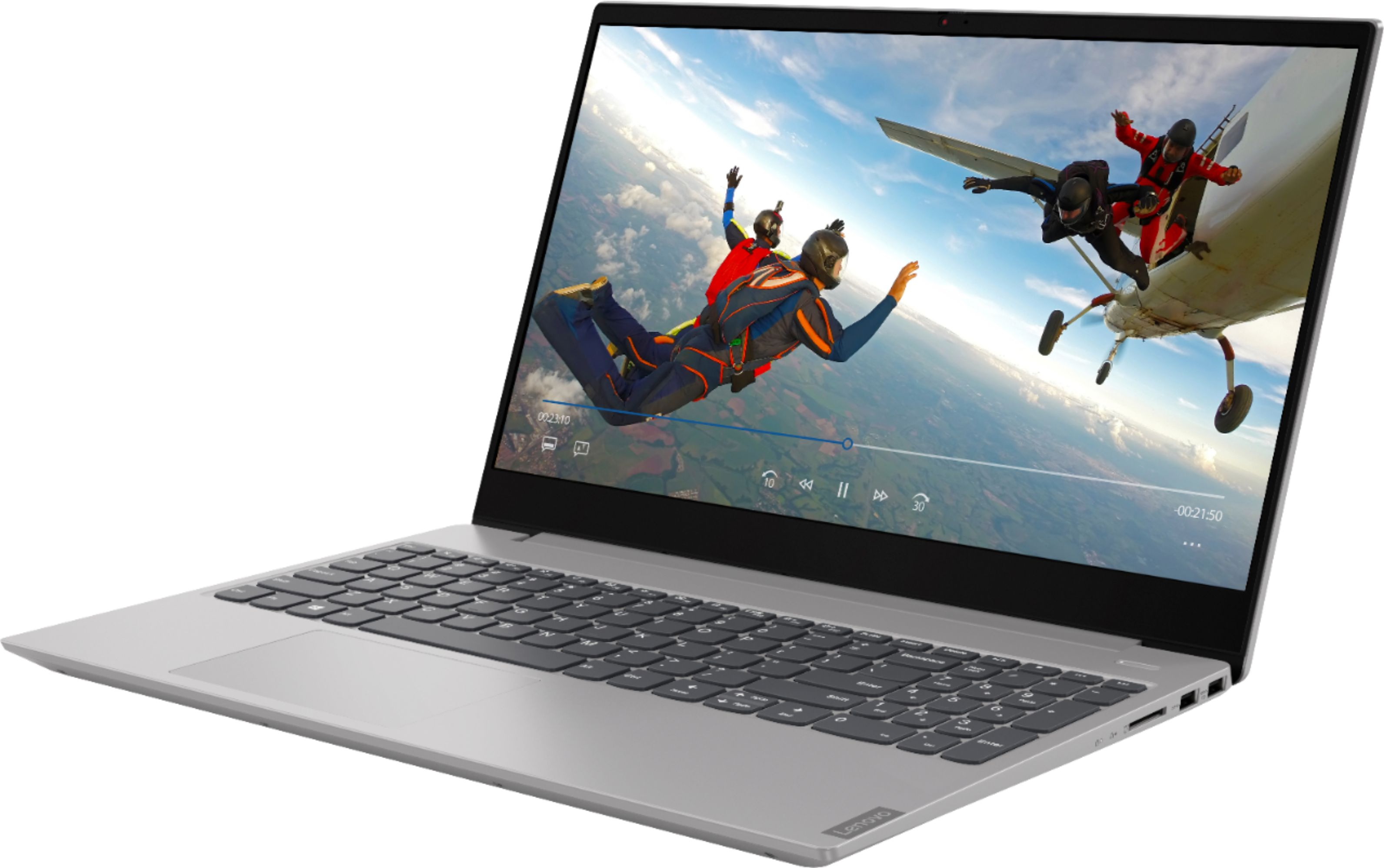 """Left Zoom. Lenovo - Geek Squad Certified Refurbished Ideapad 15.6"""" Touch-Screen Laptop - AMD Ryzen 5 - 12GB Memory - 1TB HDD - Platinum Gray."""