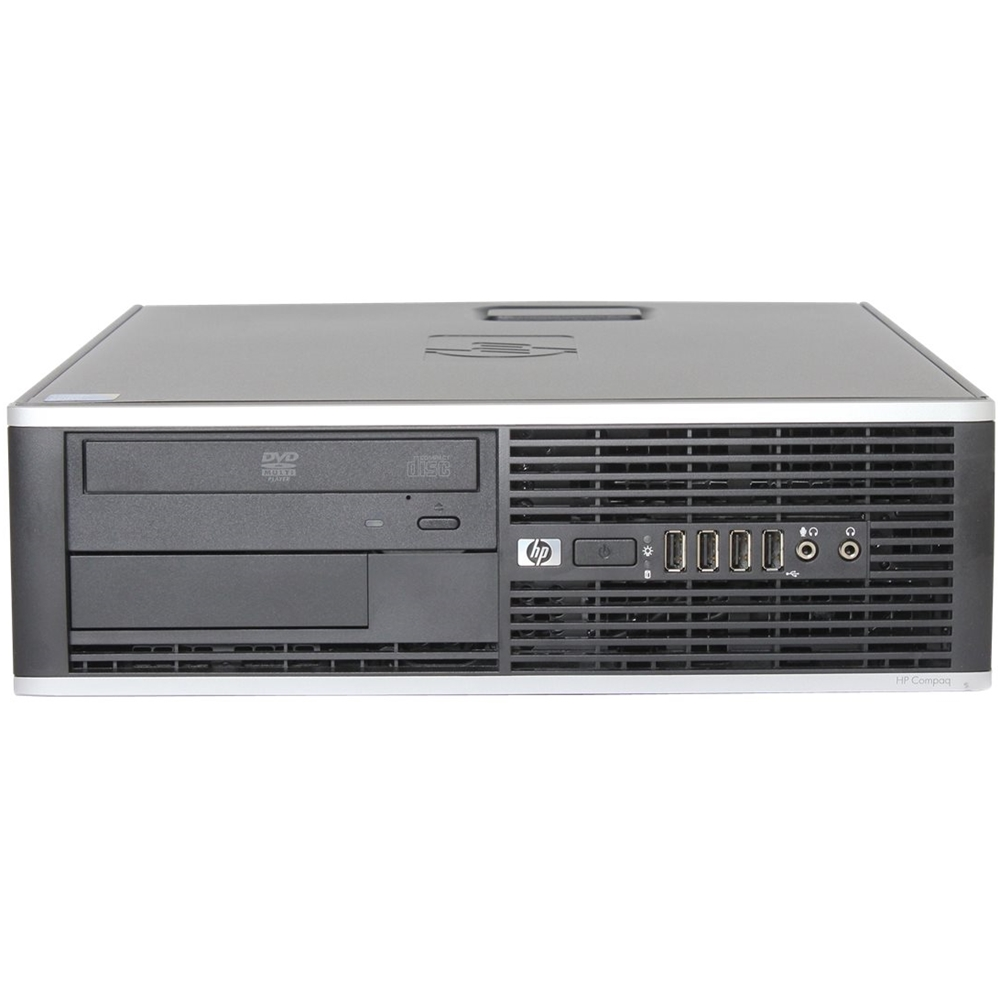 Front Zoom. HP - Refurbished Compaq Desktop - Intel Core 2 Duo - 8GB Memory - 1TB Hard Drive - Black.
