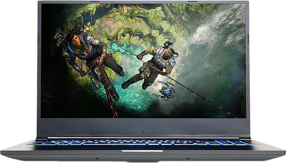 """Front Zoom. CyberPowerPC - Tracer IV Slim 15.6"""" Gaming Laptop - Intel Core i7 - 16GB Memory - NVIDIA GeForce RTX 2060 - 500GB SSD - Black."""