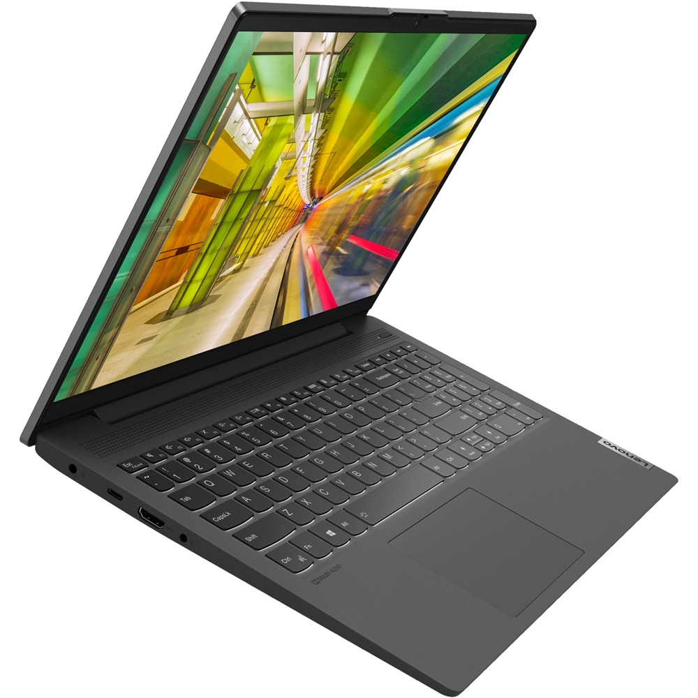 "Alt View Zoom 14. Lenovo - IdeaPad 5 15IIL05 15.6"" Laptop - Intel Core i5 - 8GB Memory - 256GB SSD - Platinum Gray."