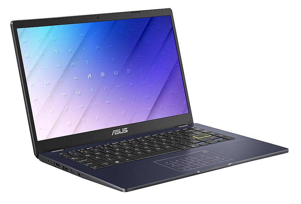 "Angle Zoom. Asus L410 L410MADB02 14"" Notebook -HD - 1920 x 1080 - Intel Celeron N4020 1.10 GHz - 4 GB RAM - 64 GB Flash Memory."