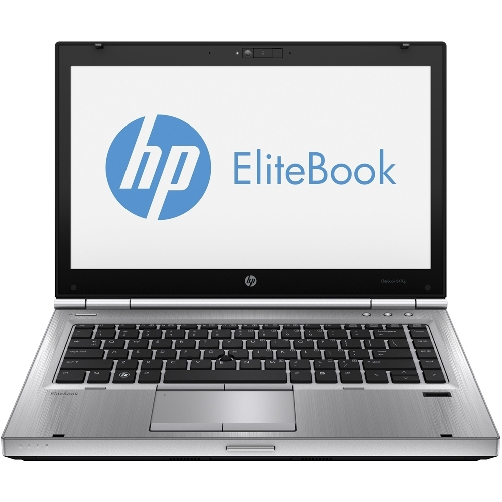 """Front Zoom. HP - EliteBook 14"""" Refurbished Laptop - Intel Core i5 - 8GB Memory - 128GB Solid State Drive - Silver."""