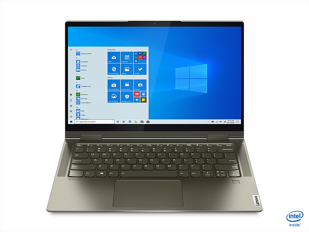 """Front Zoom. Lenovo - Yoga 7i 14 2-in-1 14"""" Touch-Screen Laptop - Intel Core i7 - 12GB Memory - 512GB SSD - Dark Moss."""
