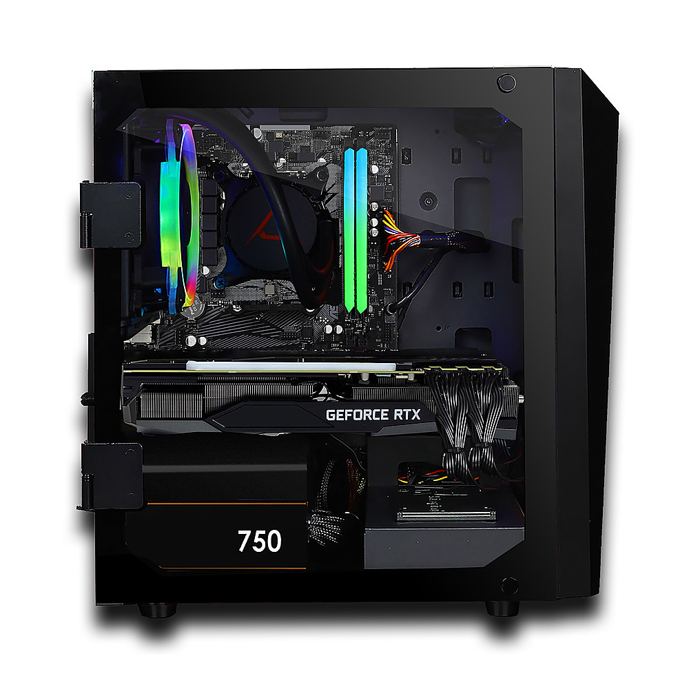 Alt View Zoom 4. CLX - SET Gaming Desktop - AMD Ryzen 9 5900X  - 16GB Memory - GeForce RTX 3060 Ti - 240GB SSD + 2TB HDD.