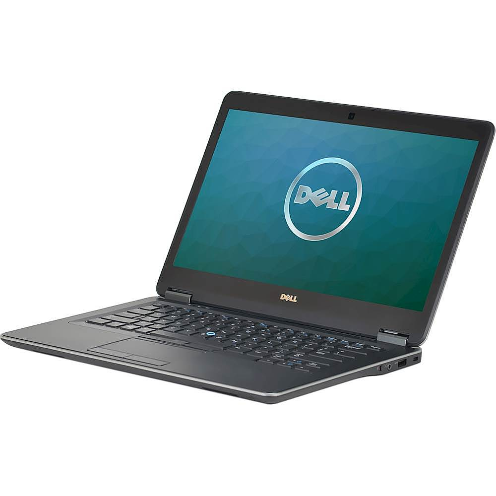 """Left Zoom. Dell - Latitude 14"""" Laptop - Intel Core i5 - 8GB Memory - 256GB Solid State Drive - Pre-Owned - Silver."""