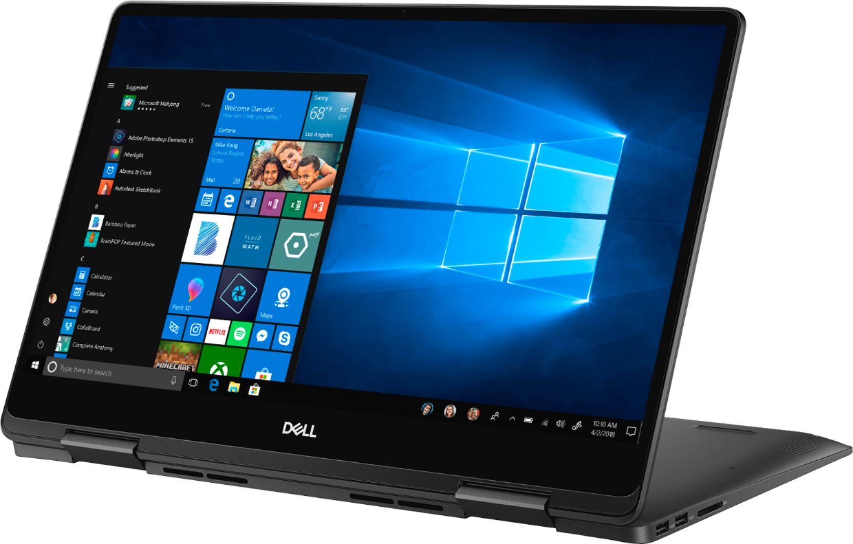 """Alt View Zoom 11. Dell - Geek Squad Certified Refurbished Inspiron 15.6"""" 4K Ultra HD Touch-Screen Laptop - Intel Core i7 - 16GB Memory- 512GB SSD - Black."""