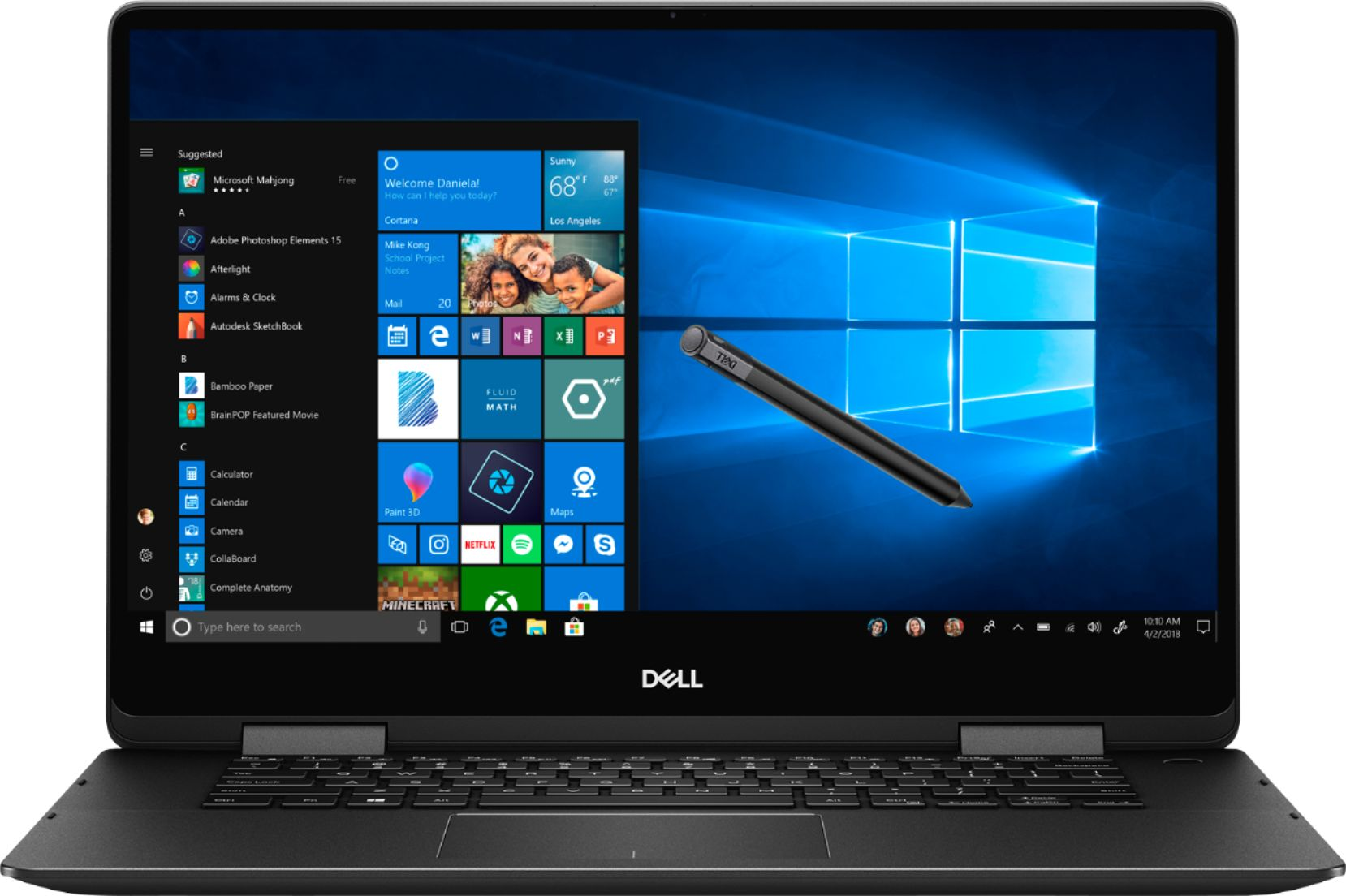 """Alt View Zoom 12. Dell - Geek Squad Certified Refurbished Inspiron 15.6"""" 4K Ultra HD Touch-Screen Laptop - Intel Core i7 - 16GB Memory- 512GB SSD - Black."""