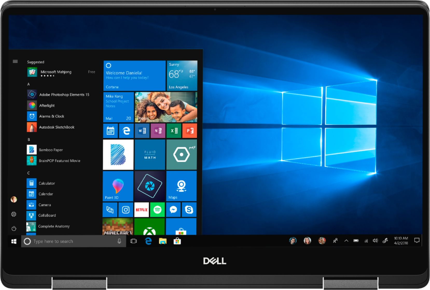 """Alt View Zoom 13. Dell - Geek Squad Certified Refurbished Inspiron 15.6"""" 4K Ultra HD Touch-Screen Laptop - Intel Core i7 - 16GB Memory- 512GB SSD - Black."""
