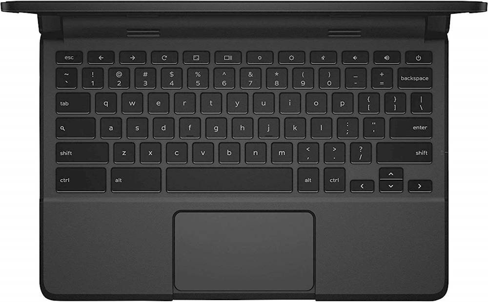"Alt View Zoom 11. Dell - 11.6"" Refurbished Chromebook - Intel Celeron - 4GB Memory - 16GB eMMC Flash Memory - Black."