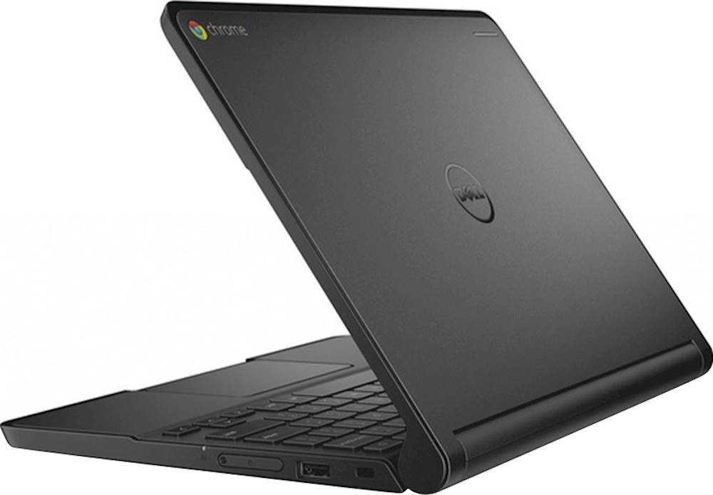 "Alt View Zoom 1. Dell - 11.6"" Refurbished Chromebook - Intel Celeron - 4GB Memory - 16GB eMMC Flash Memory - Black."