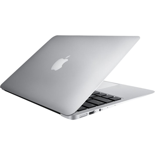 """Front Standard. Apple - MacBook Air 13.3"""" Pre-Owned Laptop - Intel Core i5 - 4GB Memory - 256GB Flash Storage - Silver."""