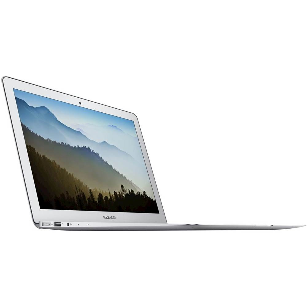 """Angle Zoom. Apple - MacBook Air 11.6"""" Grade B Pre-Owned Laptop - Intel Core i5 - 2GB Memory - 64GB Solid State Drive - Silver."""