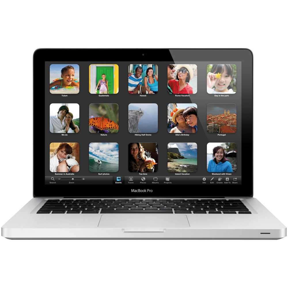 "Front Zoom. Apple - MacBook Pro 13.3"" Pre-Owned Laptop - Intel Core i5 - 16GB Memory - 320GB Hard Drive - Silver."