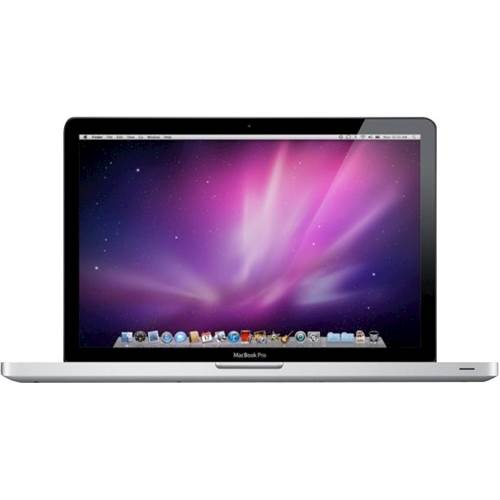 """Front Standard. Apple - MacBook Pro 13.3"""" Pre-Owned Laptop - Intel Core 2 Duo - 4GB Memory - 250GB Hard Drive - Silver."""