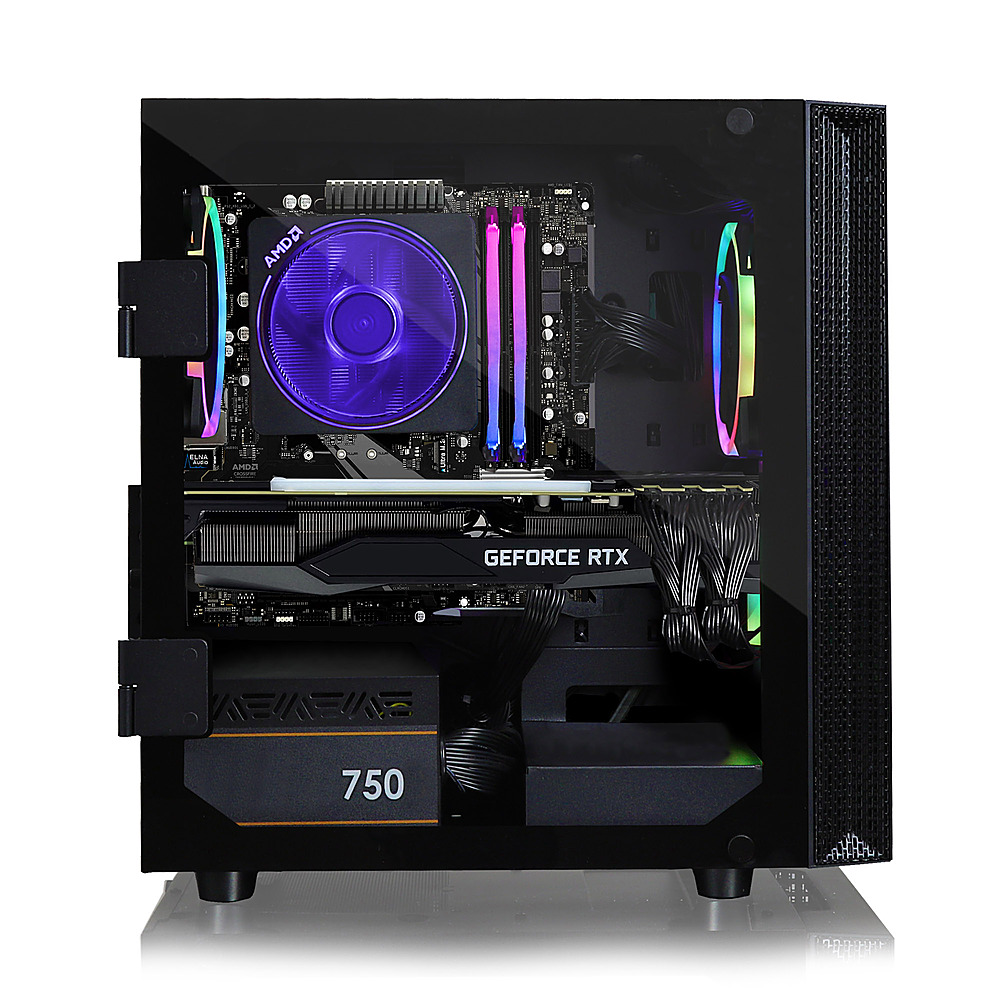 Alt View Zoom 4. CLX - SET Gaming Desktop - AMD Ryzen 5 3600  - 16GB Memory - GeForce RTX 3070 - 480GB SSD + 2TB HDD.