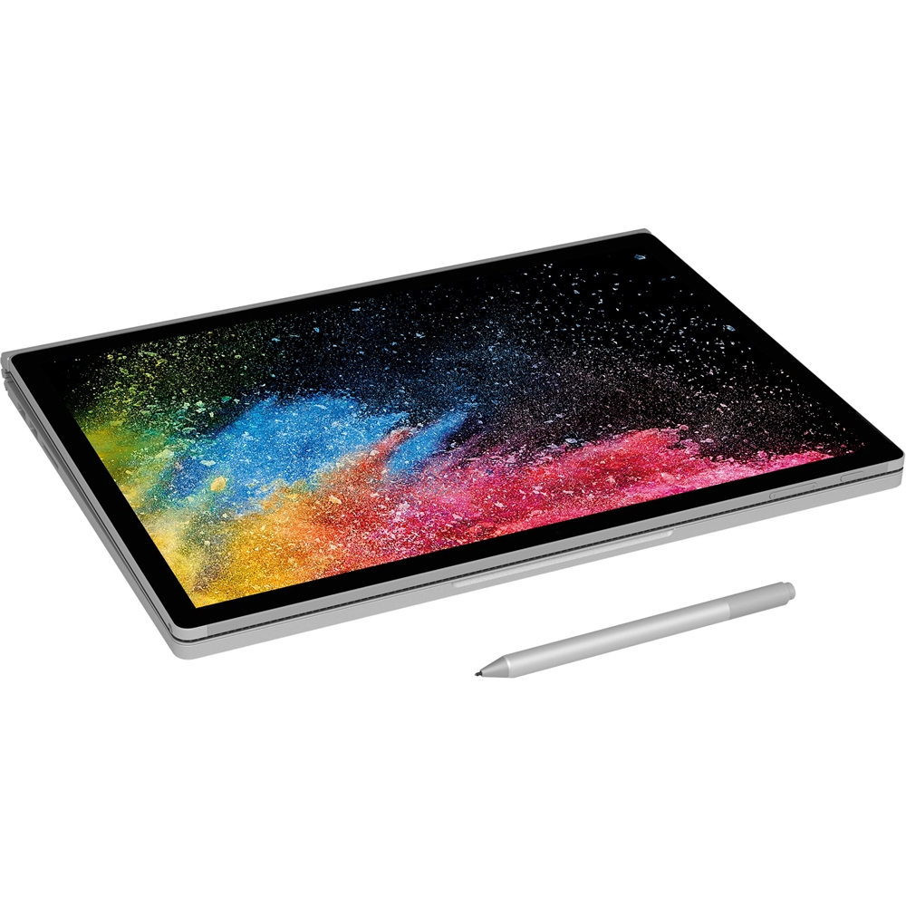 """Left Zoom. Microsoft - Surface 2-in-1 13.5"""" Refurbished Touch-Screen Laptop Intel Core i7 8GB Memory NVIDIA GeForce GTX 1050 256GB SSD - Silver."""