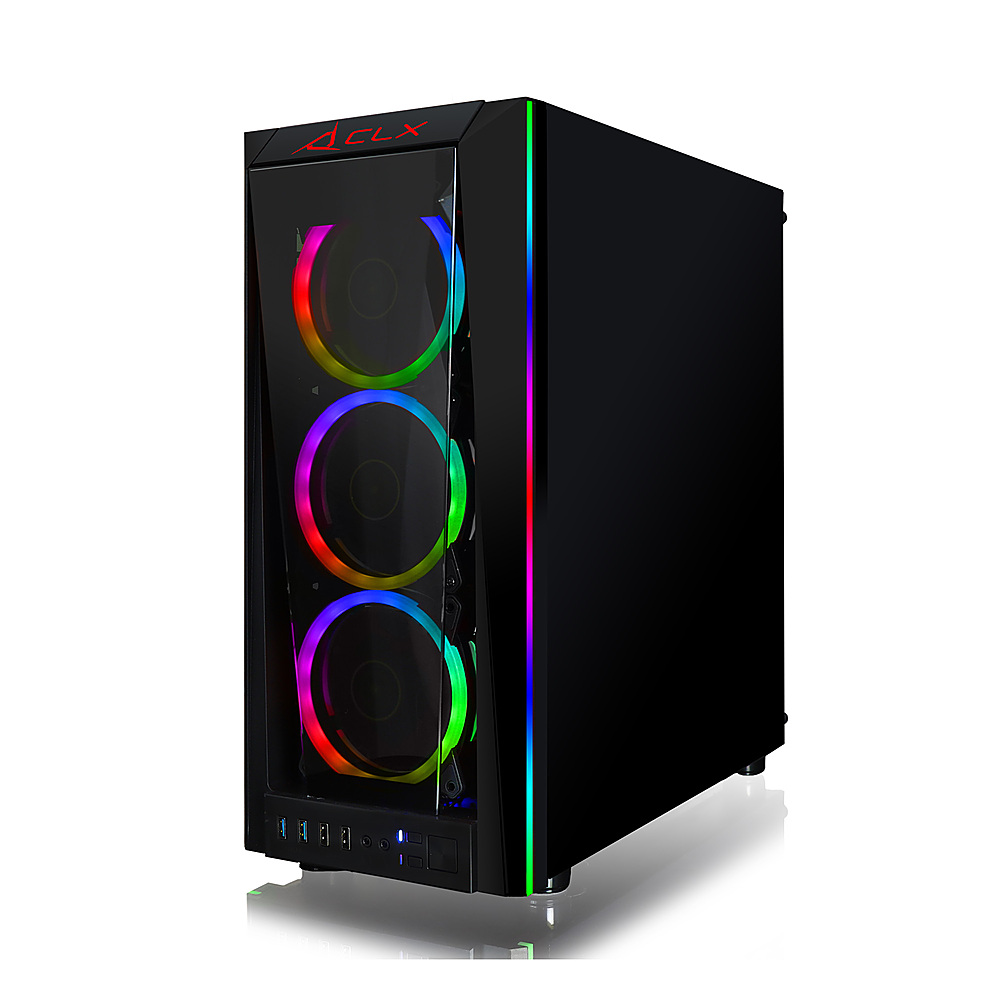 Alt View Zoom 11. CLX SET Gaming Desktop -  Intel Core i9 9900KF - 16GB Memory - NVIDIA GeForce RTX 3080 - 480GB SSD + 2TB HDD - Black.