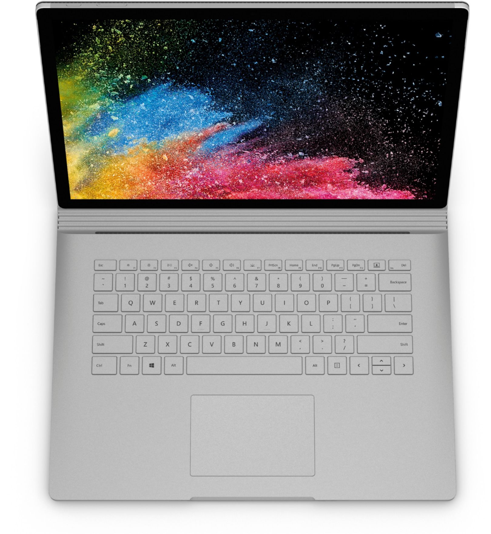 """Alt View Zoom 3. Microsoft - Geek Squad Certified Refurbished Surface Book 2 - 15"""" Touch-Screen Laptop - Intel Core i7 - 16GB Memory - 1TB GB SSD - Platinum."""