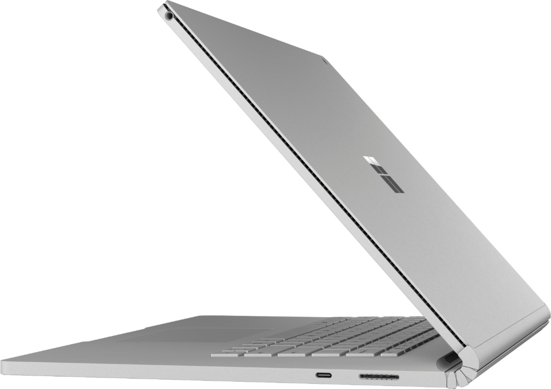 """Left Zoom. Microsoft - Geek Squad Certified Refurbished Surface Book 2 - 15"""" Touch-Screen Laptop - Intel Core i7 - 16GB Memory - 1TB GB SSD - Platinum."""
